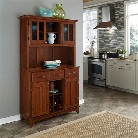 Cherry Buffet And Hutch - home styles cherry buffet with hutch 5100 0072 72 the