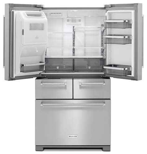 Kitchenaid Bar Appliances by Kitchenaid 25 8 Cu Ft Multi Door Refrigerator Stainless