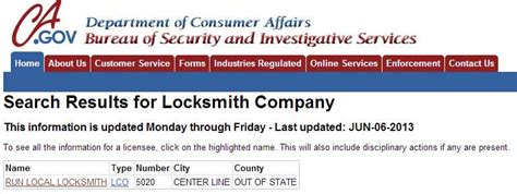 california bureau of security and investigative services definitive proof that locksmith licensing is a con what your not being told