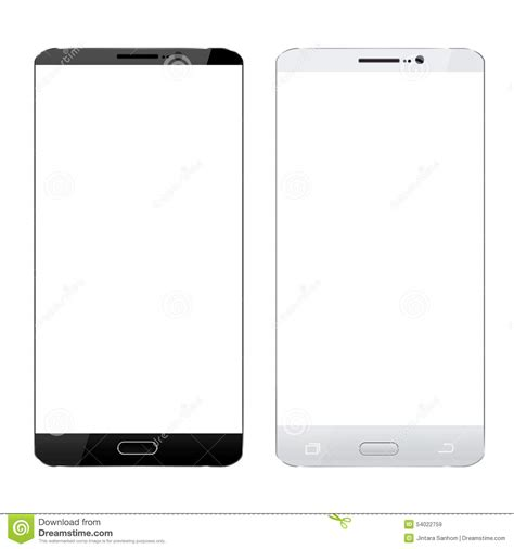 smartphone black and white black and white smartphone realistic design isolated white