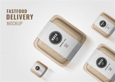 Edit the free menu psd mockup file with its smart object layer. Fast food delivery advertising mockup   Premium PSD File