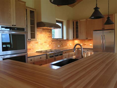 Kitchen Counter Tile Ideas - kitchen with butcher block counter fish builders