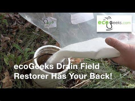 ecogeeks drain field restorer clears wet drain field oxy