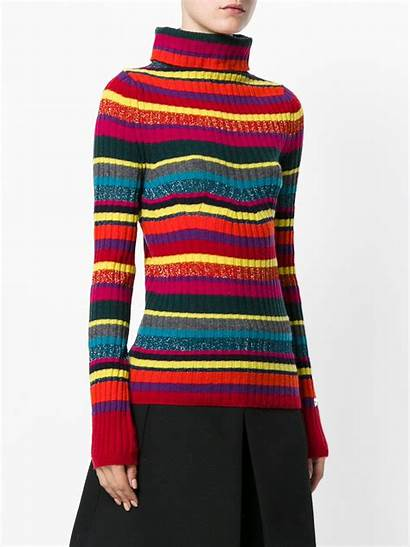 Neck Jumper Roll Ribbed Striped Twin Lyst