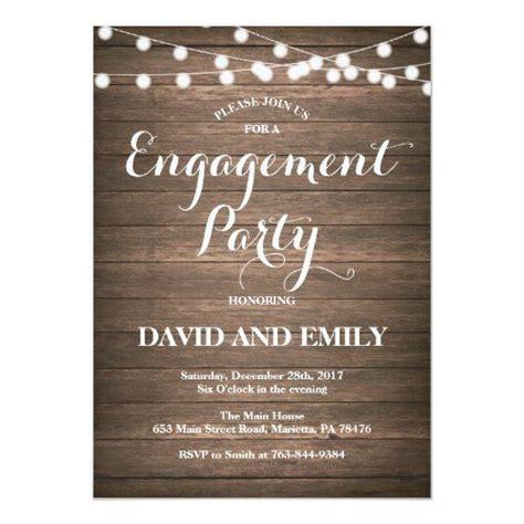 rustic wood engagement party invitation card zazzlecom