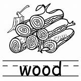 Wood Clip Plank Words Basic Clipart Coloring Pages Template sketch template