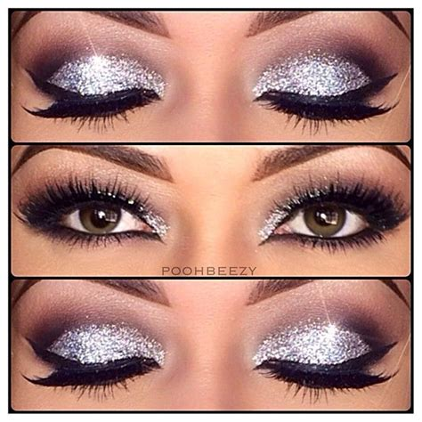 silver sparkle eye makeup pictures   images