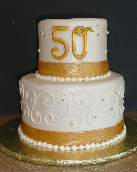 fifty years golden wedding anniversary cake wedding