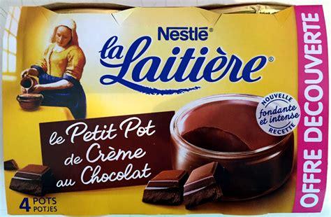 la laiti 232 re le petit pot de cr 232 me au chocolat nestl 233 4 100 g 400 g