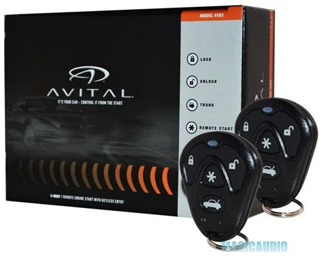 Avital 4103 Remote Start With Keyless Entry / Avital 4105