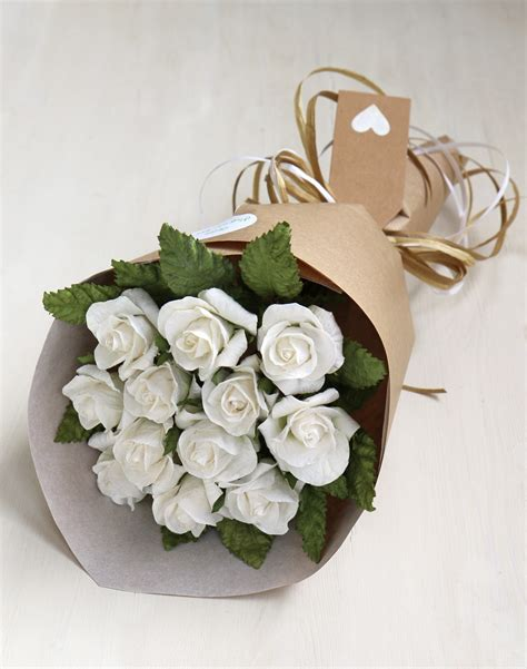 anniversary gift bouquet paper roses st wedding