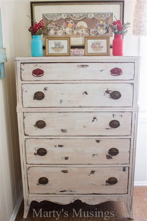 chalk painted dresser trash  treasure transformation