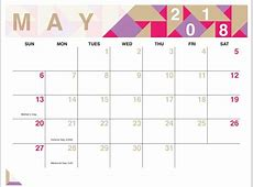 May 2018 Calendar FREE DOWNLOAD Printables Redefined!!