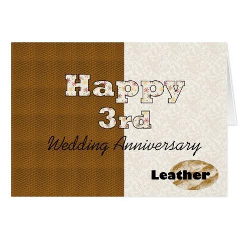 third wedding anniversary happy 3rd wedding anniversary greeting card zazzle