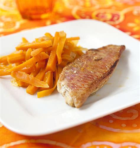 cuisiner des rougets filets de rougets et carottes glacées au miel les