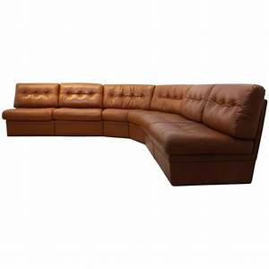 Sofa In Cognac : grand sectional lounge sofa in cognac leather at 1stdibs ~ Indierocktalk.com Haus und Dekorationen