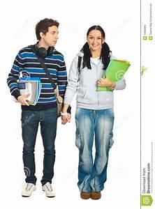 Couple of students walking stock photo. Image of ...