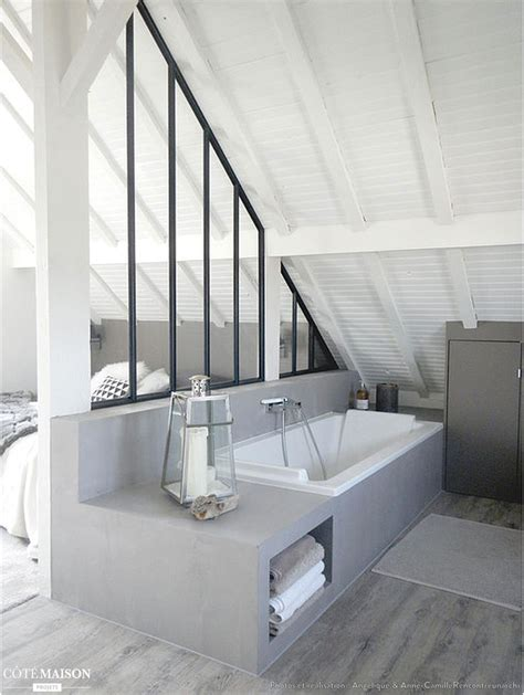 salle de bain dans chambre suite parentale dans les combles 10 design et 3 aménagements
