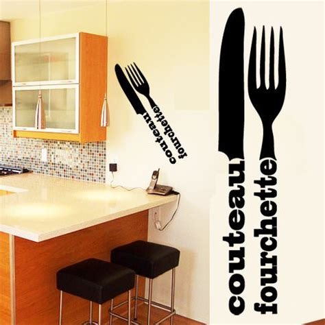couvert cuisine sticker d 233 co cuisine couverts en lettrage deco cuisine