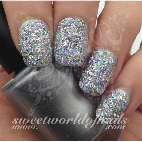 nail glitter holographic silver sparkle glitter dust