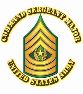 Army - Command Sergeant Major - E9 - w Text Army Rank