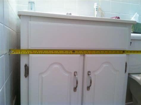 gap between cabinet and wall gap between vanity and wall