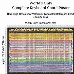 Guitar Scales Chart Printable Pdf Complete Piano Chord Chart Laminated Wall Chart Of All