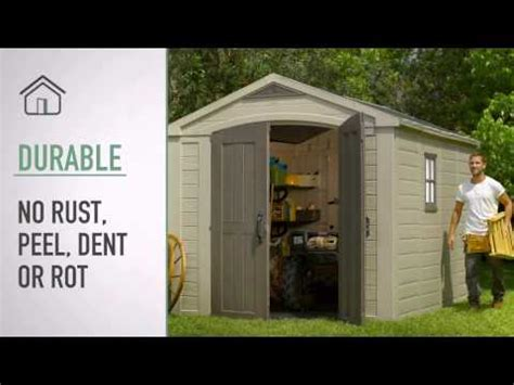 keter plastic shed construction timelapsed video doovi