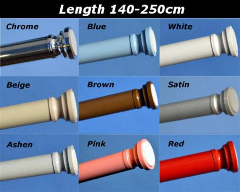 Loaded Curtain Rod 300cm by Loaded Extendable Telescopic Shower Curtain Rail