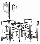 Coloring Dining Drawing Pages Simple Line Table Sheet Bridge Colouring Cozy Inspired Coloringpagesfortoddlers Sheets Beginners Children Rooms Adult Visit Creative sketch template