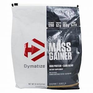 Buy Dymatize Nutrition - Super Mass Gainer Protein Powder Gourmet Vanilla