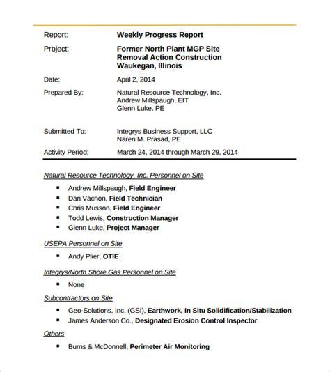engineering report template 33 weekly activity report templates pdf doc free premium templates