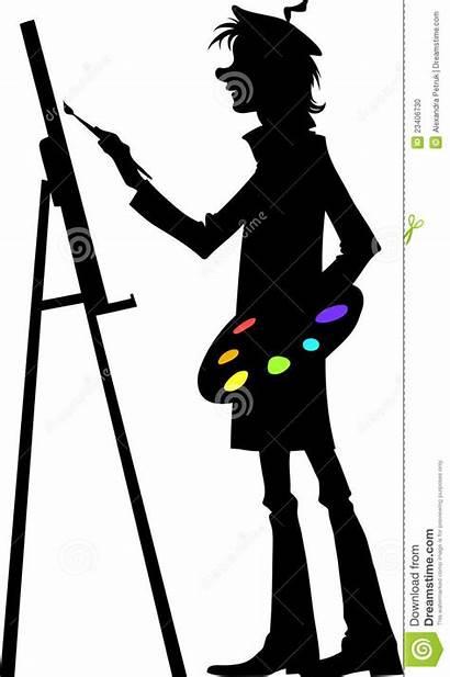 Artist Artista Lavoro Sul Kunstenaar Werk Het