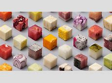 Artists Cut Raw Food Into 98 Perfect Cubes To Make