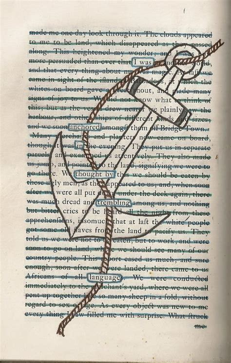 text blackout poem anchor   greeting card