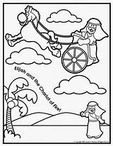 Chariot Elijah Coloring Fire Sunday Crafts Craft Bible Pages Elisha Study sketch template