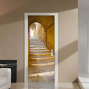 Cm d creative stairs passage pvc self adhesive door