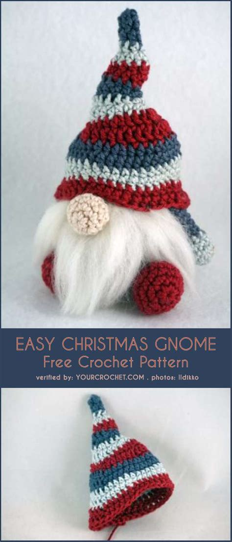 easy christmas gnome  crochet pattern  crochet