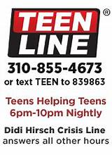 Teen support line numbers