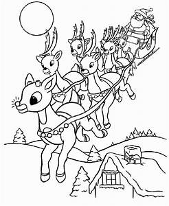 Coloring Pages For Christmas Reindeer - AZ Coloring Pages