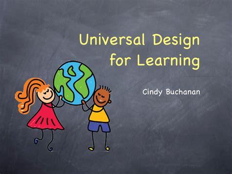 universal design for learning universal design for learning