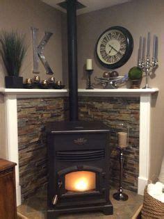 pallet wall  wood stove fun  diy pinterest
