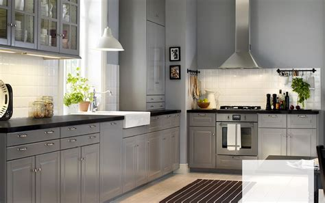 floors with kitchen cabinets a country kitchen with grey inset doors black worktops 9532