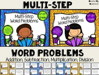 No Prep Printables!! Mixed Operation Multistep Word Problems!  Classroom Ideas ) Pinterest