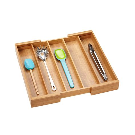 tray organizer for kitchen expandable bamboo utensil tray the container 6364