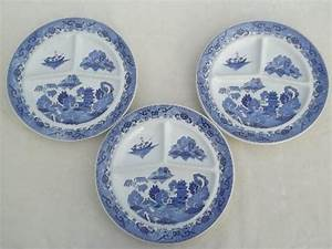 Vintage Restaurant China Grill Plates Japan Blue Willow