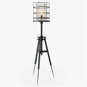 3d surveyor s floor lamp for Surveyors floor lamp wood