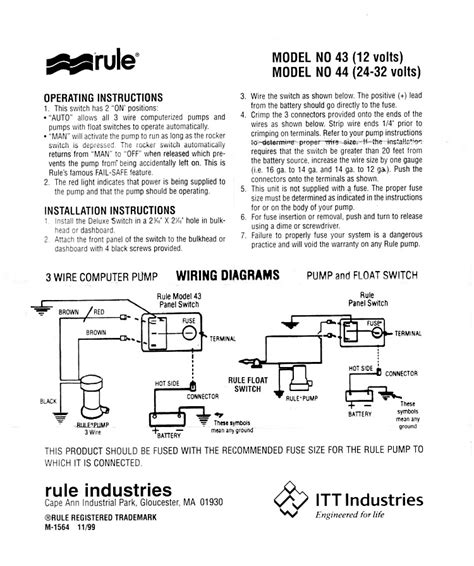 Relay Dual Float Switches For Boat Bilge Pump