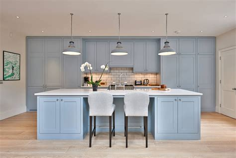 design trend blue kitchen cabinets  ideas