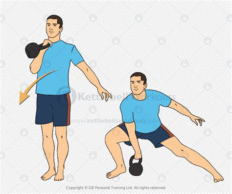 kettlebell lunge side clean exercises exercise
